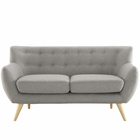 Modway Remark Upholstered Fabric Loveseat in Light Gray MY-EEI-1632-LGR