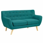 Modway Remark Upholstered Fabric Loveseat in Teal MY-EEI-1632-TEA
