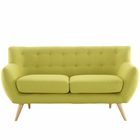 Modway Remark Upholstered Fabric Loveseat in Wheatgrass MY-EEI-1632-WHE