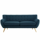 Modway Remark Upholstered Fabric Sofa in Azure MY-EEI-1633-AZU