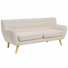 Modway Remark Upholstered Fabric Sofa in Beige MY-EEI-1633-BEI