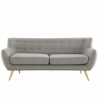 Modway Remark Upholstered Fabric Sofa in Light Gray MY-EEI-1633-LGR