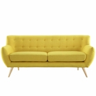 Modway Remark Upholstered Fabric Sofa in Sunny MY-EEI-1633-SUN