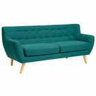 Modway Remark Upholstered Fabric Sofa in Teal MY-EEI-1633-TEA