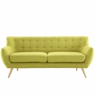 Modway Remark Upholstered Fabric Sofa in Wheatgrass MY-EEI-1633-WHE
