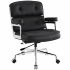 Modway Remix Faux Leather Office Chair in Black MY-EEI-276-BLK