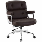 Modway Remix Faux Leather Office Chair in Brown MY-EEI-276-BRN