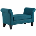 Modway Rendezvous Upholstered Fabric Bench in Teal MY-EEI-2548-TEA
