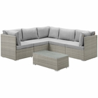 Modway Repose 6 Piece Outdoor Patio Sectional Set in Light Gray Gray MY-EEI-3016-LGR-GRY-SET