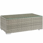 Modway Repose Outdoor Patio Coffee Table in Light Gray MY-EEI-2691-LGR