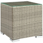 Modway Repose Outdoor Patio Side Table in Light Gray MY-EEI-2692-LGR