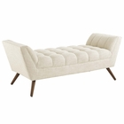 Modway Response Medium Upholstered Fabric Bench in Beige MY-EEI-1789-BEI