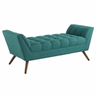 Modway Response Medium Upholstered Fabric Bench in Teal MY-EEI-1789-TEA
