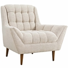 Modway Response Upholstered Fabric Armchair in Beige MY-EEI-1786-BEI