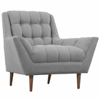 Modway Response Upholstered Fabric Armchair in Expectation Gray MY-EEI-1786-GRY