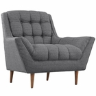 Modway Response Upholstered Fabric Armchair in Gray MY-EEI-1786-DOR