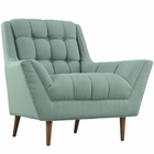 Modway Response Upholstered Fabric Armchair in Laguna MY-EEI-1786-LAG