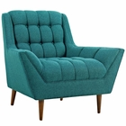 Modway Response Upholstered Fabric Armchair in Teal MY-EEI-1786-TEA