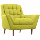 Modway Response Upholstered Fabric Armchair in Wheatgrass MY-EEI-1786-WHE