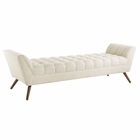 Modway Response Upholstered Fabric Bench in Beige MY-EEI-1790-BEI