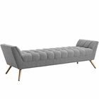 Modway Response Upholstered Fabric Bench in Expectation Gray MY-EEI-1790-GRY
