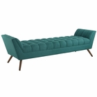 Modway Response Upholstered Fabric Bench in Teal MY-EEI-1790-TEA