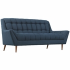 Modway Response Upholstered Fabric Loveseat in Azure MY-EEI-1787-AZU