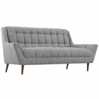 Modway Response Upholstered Fabric Loveseat in Expectation Gray MY-EEI-1787-GRY