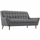 Modway Response Upholstered Fabric Loveseat in Gray MY-EEI-1787-DOR