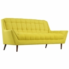 Modway Response Upholstered Fabric Loveseat in Sunny MY-EEI-1787-SUN