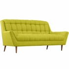 Modway Response Upholstered Fabric Loveseat in Wheatgrass MY-EEI-1787-WHE
