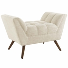 Modway Response Upholstered Fabric Ottoman in Beige MY-EEI-1791-BEI