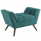 Modway Response Upholstered Fabric Ottoman in Teal MY-EEI-1791-TEA
