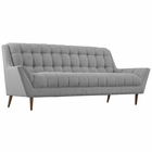 Modway Response Upholstered Fabric Sofa in Expectation Gray MY-EEI-1788-GRY