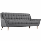 Modway Response Upholstered Fabric Sofa in Gray MY-EEI-1788-DOR