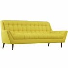 Modway Response Upholstered Fabric Sofa in Sunny MY-EEI-1788-SUN