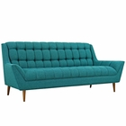 Modway Response Upholstered Fabric Sofa in Teal MY-EEI-1788-TEA