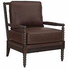 Modway Revel Faux Leather Armchair in Brown MY-EEI-2304-BRN