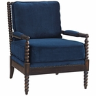 Modway Revel Upholstered Fabric Armchair in Navy MY-EEI-2303-NAV