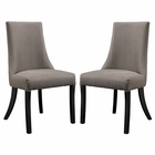 Modway Reverie Dining Side Chair Upholstered Fabric Set of 2 in Gray MY-EEI-1297-GRY