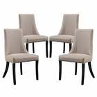 Modway Reverie Dining Side Chair Upholstered Fabric Set of 4 in Beige MY-EEI-1677-BEI