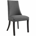 Modway Reverie Dining Upholstered Fabric Side Chair in Gray MY-EEI-1038-GRY