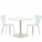 Modway Revolve 3 Piece Dining Set in White MY-EEI-887