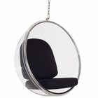Modway Ring Acrylic Lounge Chair in Black MY-EEI-111-BLK