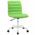 Modway Ripple Armless Mid Back Faux Leather Office Chair in Bright Green MY-EEI-1532-BGR