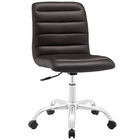 Modway Ripple Armless Mid Back Faux Leather Office Chair in Brown MY-EEI-1532-BRN