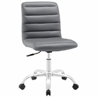 Modway Ripple Armless Mid Back Faux Leather Office Chair in Gray MY-EEI-1532-GRY