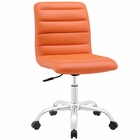 Modway Ripple Armless Mid Back Faux Leather Office Chair in Orange MY-EEI-1532-ORA