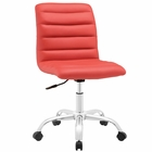 Modway Ripple Armless Mid Back Faux Leather Office Chair in Red MY-EEI-1532-RED