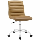 Modway Ripple Armless Mid Back Faux Leather Office Chair in Tan MY-EEI-1532-TAN